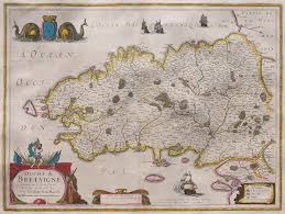 Brittany France Map Hondius Janssonius Map Of Brittany Michael Jennings Antique