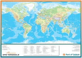 Peters Projection Map World U0026 Regional Customised Map Oxford Cartographers