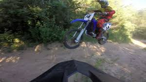 yamaha yz 250 hitting jumps at sand pit gopro youtube