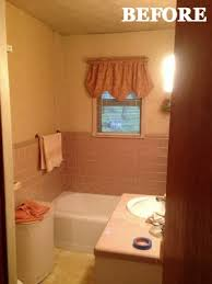 before and after pink bathroom home decorating ideas
