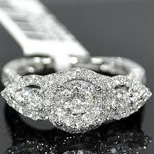 flat engagement rings engagement ring 1 87ct real diamond 14k white gold shank flat