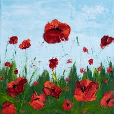 remember me u201d poppy field series u2013 acrylic paintings melissa