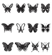 butterfly tattoos royalty free vector image vectorstock
