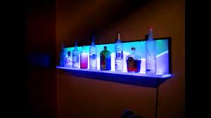 shelf with lights underneath bathroom lighted floating shelf outstanding custom led floating