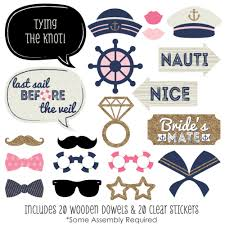 photobooth props nautical bachelorette bachelorette party photo booth props kit