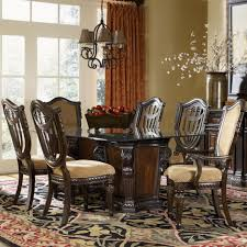 7 dining room sets fairmont designs grand estates 7 glass table and chair set