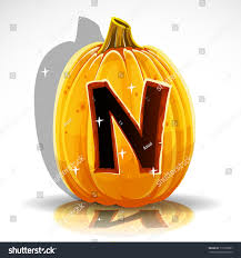 happy halloween font cut out pumpkin stock vector 112503857