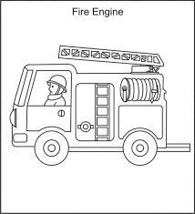 free printable fire truck 2 person coloring pages kids