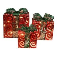 indoor lighted gift boxes christmas outdoor home decor kohl s