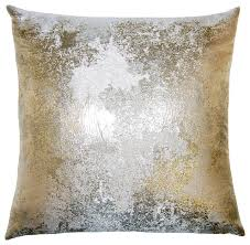 gold and silver pillows houzz