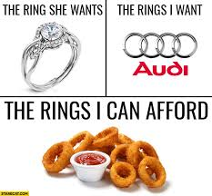 Wedding Ring Meme - the ring she wants wedding ring the rings i want audi the
