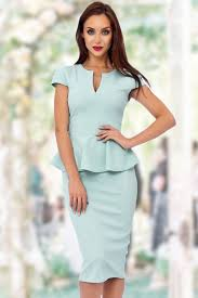 peplum dress 50s carese peplum dress in mint
