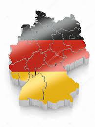 map of germany in german flag colors u2014 stock photo maxxyustas