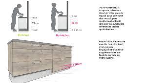 hauteur d une cuisine my kitchen les hauteur d un plan de travail cuisine newsindo co