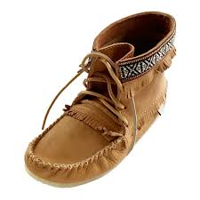 men u0027s cork brown ankle moccasin boots handmade from real moose