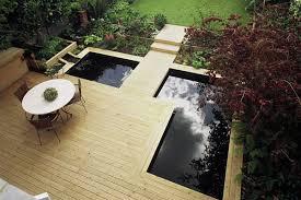 Small Backyard Pond Ideas by Modern Water Garden Design Contemporary Softwood Deck Modern
