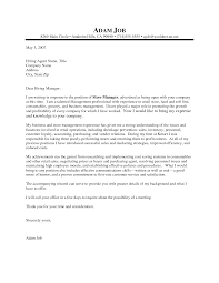 Inquiry Cover Letter Resume Business Manager Manager Cover Letter Business Manager