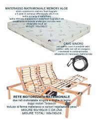 rete con materasso rete matrimoniale elettrica motorizzata con materasso in memory aloe