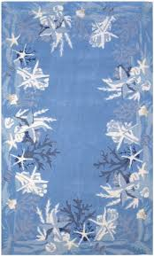 sealife rug blue and white coastal rug nautical decor nautical