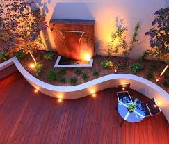 Tropical Backyard Design Ideas Add Curves Make Your Decking Playful By Adding A Curved Planter