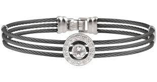 white topaz bracelet images Lyst alor 14k 0 12 ct tw diamond and white topaz cable jpeg