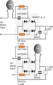 Led 110v Wiring Diagram 3 Watt 5 Watt Led Dc To Dc Constant Current Driver Circuit