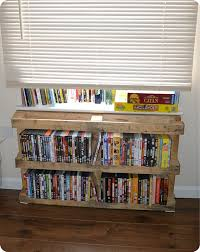 Dvd Shelf Woodworking Plans by 36 Best Pallet Dvd Racks Images On Pinterest Dvd Rack Pallet