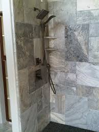 silver travertine in the shower bathrooms pinterest
