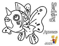 famous pokemon coloring goldeen mew free kids coloring kids within