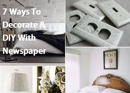 Room Decorating Ideas With Paper 7 Ways To Decorate U0026 Diy With Newspaper