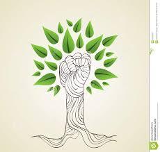 go green hand concept tree stock image image 32018221