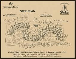 Kaanapali Alii Floor Plans by Kaanapali Royal Resort Property Sitemap Maui Condo Real Estate