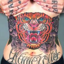 tiger stomach tattoomagz