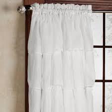 interior plain white curtains white blackout curtains target