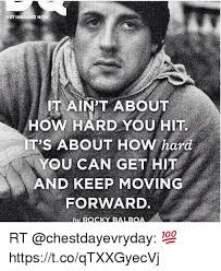 Rocky Meme - set inspired now it aint about hit t s about hard you can get hit