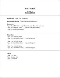 High Resume Template No Work Experience Creating Resume With No Work Experience Professional Resumes