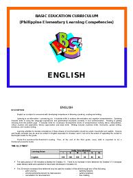 English Curriculum Philippine Deped Stress Linguistics Verb