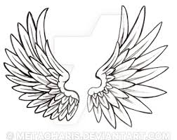 wings outline tattoo designs for girls pictures to pin on