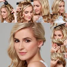 front view of side swept hairstyles lulus how to side swept curls hair tutorial lulus com fashion blog