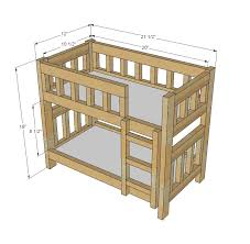 Bunk Bed Free White Build A C Style Bunk Beds For American Or 18