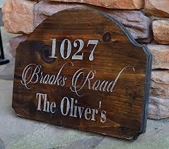 address sign address plaque rustic home decor Address Home Decor