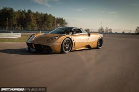 pagani huayra gold drive of a lifetime the huayra on track speedhunters
