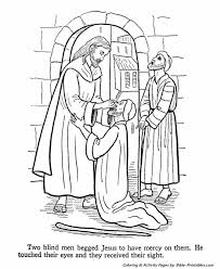 Jesus Healed The Blind Man Jesus Teaches Coloring Pages Jesus Heals The Blind Men Bible