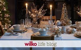 Wilkinsons Blue Christmas Decorations by Christmas Dining Xmas Shop Wilko Com