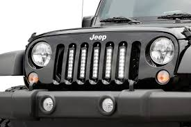 jeep grill decal 8 inch cree black series vertical led light kit for 07 17 jeep jk