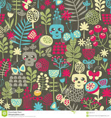 cute halloween pattern background seamless pattern with cute halloween and flowers stock image