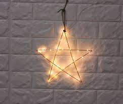 copper wire lights battery 2pcs set 12inch led metal star with copper wire light battery