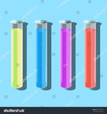 color test tube chemical reaction experience stock illustration