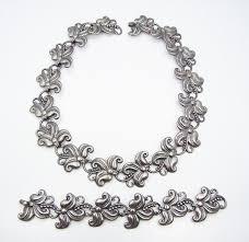 silver necklace bracelet set images Margot de taxco 5488 vintage mexican silver necklace bracelet set jpg
