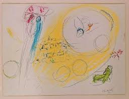 cities sketches by marc chagall song of songs lovers in city sky